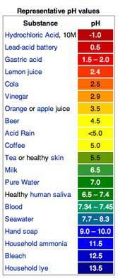 pH Value Chart--pH matters tremendously to your overall health