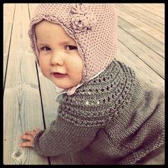 Baby knits, precious bonnet