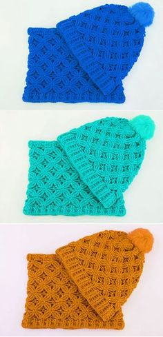 Crochet Hat and Scarf Easy Set