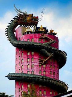 Wat Samphran Temple in Bangkok