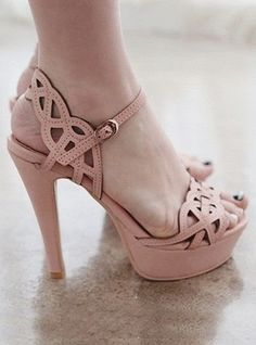 Baby Pink Ankle Strapes