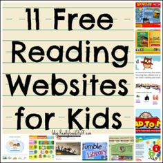 FREE reading websites for kids! Perfect for Daily Pinning so I don't forget to try all of these literacy sites school year. My reluctant readers will love these. Free teaching websites are the best! websites for kids 11 Free Reading Websites for Kids Reading Websites For Kids, Reading Resources, Reading Strategies, Kids Reading, Reading Activities, Guided Reading, Teaching Reading, Free Reading, Teacher Resources