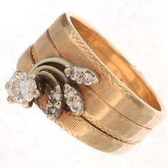 Old Pawn 14K Gold Diamond Ring 25452