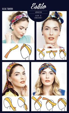Hairstyles with bandanas Trendy Hairstyles Headband Head Wrap Trendy Hairstyles Headband H. Hair Scarf Styles, Curly Hair Styles, Natural Hair Styles, Hair Wrap Scarf, Summer Hairstyles, Trendy Hairstyles, Twist Headband, How To Wear Scarves, Hair Accessories For Women