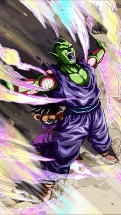 Piccolo sacrificing his life for Gohan
