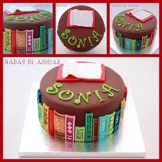 La tarta perfecta para los amantes de los libros y las librerías!!