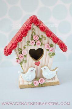 Valentijn Vogelhuisje van koek
