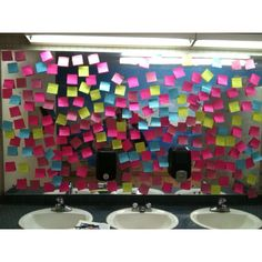 """Anti-bullying campaign!! This was found in a friends school where she teaches!!! Inspirational quotes with instructions to """"take what you need""""!!! How amazing!!!"""