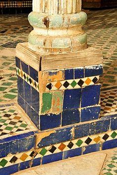 Tiles Bahia Palace, Marrakesh, Morocco