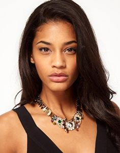 $70 Enlarge ASOS Winged Stone Collar Necklace