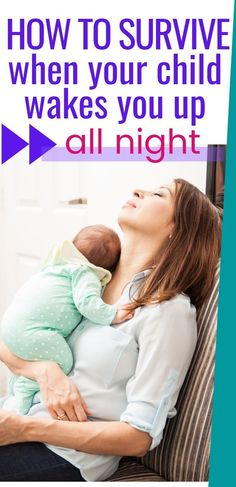 These are the best tips for getting through the day when your baby isn't sleeping through the night! As an exhausted new mom in desperate need of sleep, these tips can help you survive one of the toughest things about having a baby or toddler who won't sleep! #babysleep #toddlersleep #newmom #babies #toddlers Toddler Sleep, Baby Sleep, Sleeping Through The Night, Breastfeeding Tips, Having A Baby, Pregnancy Tips, Mom And Baby, Baby Feeding, Exhausted
