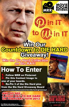 Pin it to Win it - Movie Room Reviews Countdown to Die Hard Giveaway! Read on for Details on how to enter the contest!