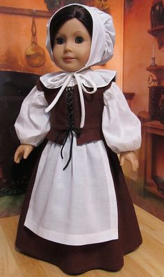 6pc. Pilgrim outift- Fits American Girl doll by Keepersdollyduds, via Flickr