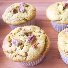 Avocado Pistachio Almond Muffins!  Gluten-Free, No Added Sugar, No Butter, No Oils, No Flour, Protein-Packed, Vegan Swaps Included & Diet Friendly!