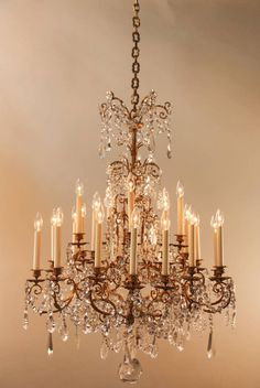 19th Century French Crystal Chandelier that features dozens upon dozens of gorgeous crystals and 20 lights