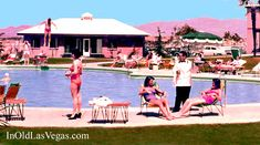 Ladies Enjoying the Swimming Pool at the 1950 Desert Inn Hotel in Las Vegas, Nevada. Description from pinterest.com. I searched for this on bing.com/images