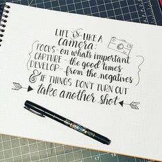 Fun phrase for Growth Mindset and arts-themed classroom Hand Lettering Quotes, Brush Lettering, Typography, Calligraphy Quotes Love, Me Quotes, Motivational Quotes, Inspirational Quotes, Life Is Like Quotes, Doodle Drawing