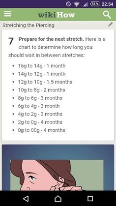 Ear Gauge Size Chart Know Your Stuffim An 8 Right Now But My Goal