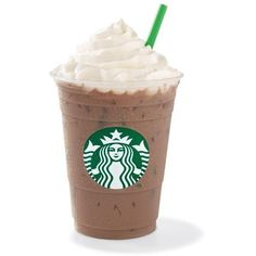 Iced Cafe Mocha ❤ liked on Polyvore featuring food, food and drink, starbucks, drinks and fillers