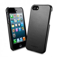 Genuine Leather Grip for iPhone 5 - Black