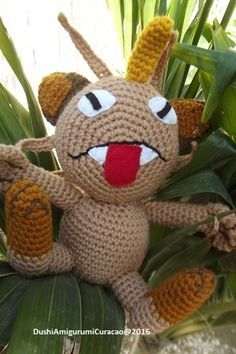 Nederlands haakpatroon Meowth pokemon - Tallsay.com