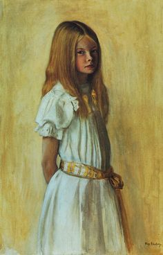 "pmikos: "" HUGO SIMBERG - Portrait of a girl in a white dress - "" Hugo Gerhard Simberg June 1873 - 12 July was a Finnish symbolist painter and graphic artist. Hugo Gerhard Simberg was born in. Art Nouveau, Collaborative Art, New Artists, Artist Art, Art World, Figurative Art, Les Oeuvres, Finland, Art For Kids"