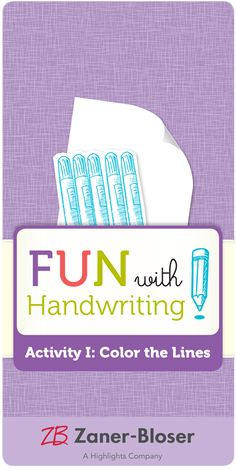 Create your own student-generated cheat sheet for identifying types of handwriting strokes! Types Of Handwriting, Handwriting Activities, Zaner Bloser Handwriting, Cheating, Create Yourself, Student, Fun, Color, Writing Activities
