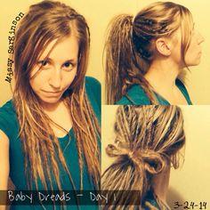 Baby Dreads - Day 1 (Rip n Tear Method) #dreadlocks #dreadhead #ripntear