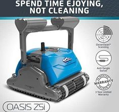 DOLPHIN Oasis Robotic Pool Cleaner with Bluetooth Control for Stress Free Pool Cleaning, Ideal for In-ground Swimming Pools up to 50 Feet. Best Robotic Pool Cleaner, Pool Vacuum Cleaner, Swimming Pool Cleaners, Swimming Pools, Best Pool Vacuum, Free Pool, Pool Filters, Pool Cleaning, In Ground Pools