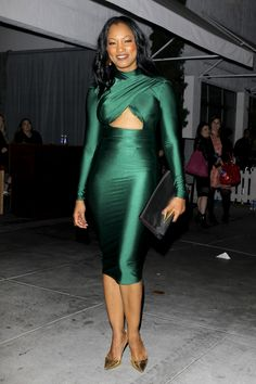 Celebrities Love…Michael Costello's Farah Cut Out Long Sleeve Midi Dress Caribbean Queen, Freakum Dress, Michael Costello, Long Sleeve Midi Dress, Frocks, Celebrity Style, Couture, Elegant, Chic