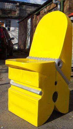 Yellow Peg Chair