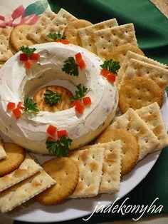 Jade konyhája: Karácsonyi krémsajtkoszorú Bagel, Waffles, Breakfast, Foodies, Morning Coffee, Waffle