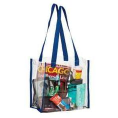 Crystal Clear Vinyl Stadium Security Tote Bag - Screen Print - Crystal Clear  Vinyl Stadium Security 96ca18e05692c