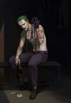 Jared Leto's #Joker art! #SuicideSquad