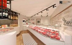 Manils render Butcher Store, Local Butcher Shop, Carnicerias Ideas, Protein Shop, Shoe Advertising, Meat Store, Shopping Places, Artisan Food, Boutique Stores