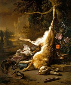 Jan Weenix / Dead Hare with Partridges with Instruments of the Chase