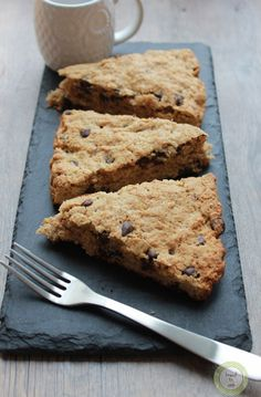 Oatmeal PB and Chocolate Chip Scones.