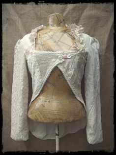 Antique lace tailcoat by NaturallyBohemian on Etsy, £190.00