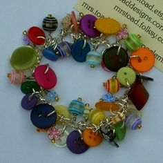 Recycled Buttons Awesome Bracelet: