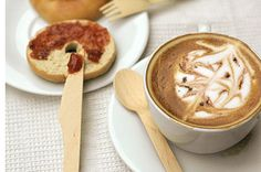"""Eco Gecko 6.5"""" Wooden Cutlery. FSC-Certified 100% sustainable disposable cutlery works well with hot or cold foods"""