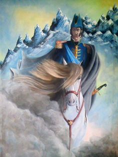 San Martín en la mirada del artista plástico santafesino Marine Commandos, Folklore, Tarot, Samurai, Princess Zelda, Fantasy, History, Military Uniforms, Painting