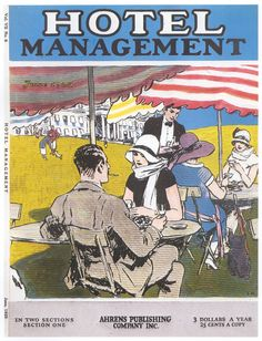 Hopper - Hotel Management, cover illustrations for magazine, 1924