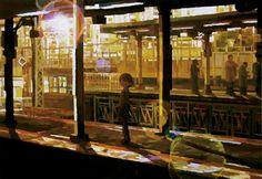 「途中下車」/ ''Stopover'', 2011, acrylic on canvas