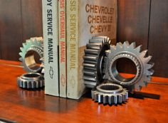 Gear Bookends Made From Race Used NASCAR Gears by luceantica, $87.99