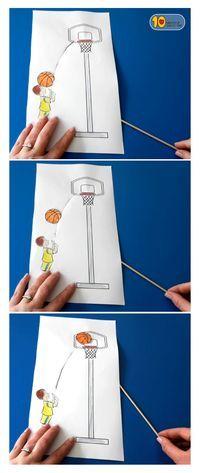 Shooting Hoops Basketball Paper Craft