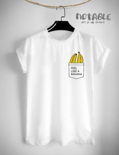 Pocket Banana T-Shirt Fashion Hipster Design Tumblr Clothing Tee Graphic Tee Women T-shirt Screen Print Funny T Shirts