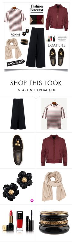 """""""Pack and Go!"""" by diane1234 ❤ liked on Polyvore featuring C/MEO COLLECTIVE, Balmain, WearAll, +Beryll, Guerlain, Forever 21, Dune and Packandgo"""