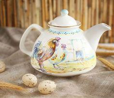 'Scenes from Nature' Teapot - Handmade, Hand-Painted at The Ceramic Workshop of St. Elisabeth Convent | catalog.obitel-minsk.com/ceramics-workshop