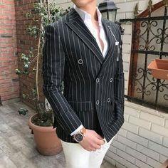 giacca uomo funki a righe verticali