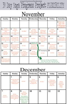 Click to enlarge. Pin it now and participate in the 39 Day Yoga Progress Project: Flexibility!